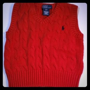 Polo Ralph Lauren 3 toddler boy's sweater vest